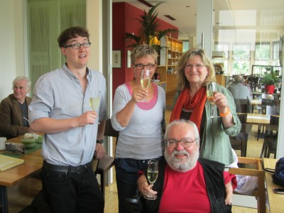 Unsere neue Gemeinderatsfraktion: Felix Schreiber, Gitta Rosenkranz, Gotthilf Lorch und Gerlinde Strasdeit